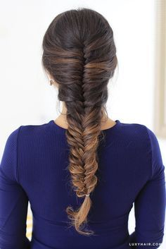 Want to learn how to French Fishtail Braid your own hair? Click on this pin to watch the tutorial on how to recreate this classic hairstyle. This is serious #braidedhairgoals! <3