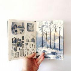 """""""El bosque dentro de mí"""". Cuaderno de bocetos. """"The forest in me"""". Sketchbook."""
