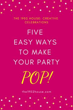 Ready to make your next party shine? Receive this free download when you sign up for our newsletter. Become the hostess whose parties everyone wants to attend with these easy tips!