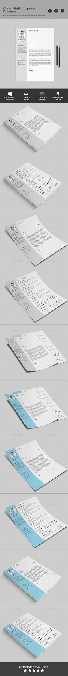 Dynamic Resume Cv template, Resume cv and Creative cv template - downloadable resume layouts
