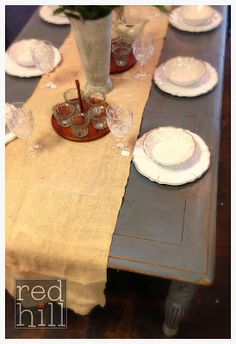 Restore your tired dining table with Old Violet CHALK PAINT® decorative paint by Annie Sloan!