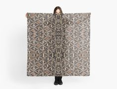 DESIGNER STYLE SCARF w/EXCLUSIVE AFRICAN ART DESIGN ~ Kuba Cloth Pattern #ExclusiveCustomDesignCustomMade #Scarf #Any