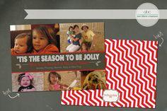 Custom Christmas Card Jolly by annblairecreations on Etsy, $17.00