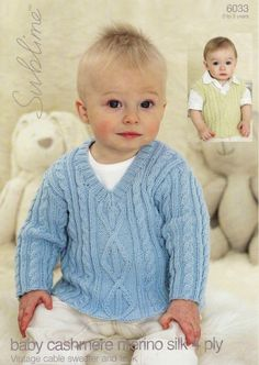 Vintage Cable Sweater and Tank (birth - age 3)