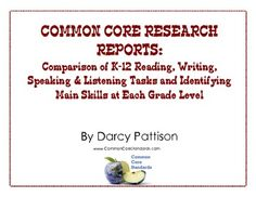 COMMON CORE RESEARCH: Comparison of Reading, Writing, Speaking and Listening. FREE download--Scope and Sequence charts that you wish the Common Core had provided. #commoncore http://commoncorestandards.com