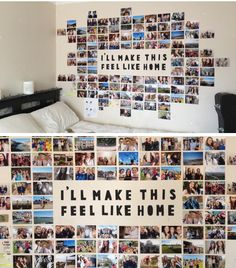 Cool 34 Enjoying Diy Photo Collage Design Ideas For Dorm Room To Try Right Now Cute Room Decor, Cute Bedroom Ideas, Teen Room Decor, Room Decor Bedroom, Dorm Room Doors, Dorm Walls, Decoracion Habitacion Ideas, Photo Collage Design, Photo Collages