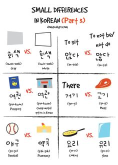 Similar words small differences in Korean