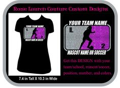 PERSONALIZE Your School/Team Soccer - T-shirts by ReeseLaurenCouture on Etsy