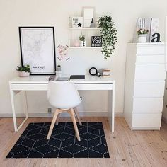 31 White Home Office Ideas To Make Your Life Easier; home office idea;Home Office Organization Tips; chic home office. Home Office Storage, Home Office Organization, Home Office Decor, Home Decor, Office Ideas, Desk Office, Organization Ideas, Office Shelving, Office Themes