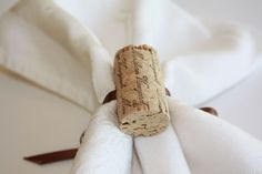 Napkin Rings: a cute and inexpensive detail that adds a little more wine charm to your reception.