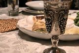Traditional Passover Seder Table with Kiddish Cup