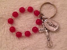Catholic Firefighters Rosary Keychain by BCRosary on Etsy, $12.00