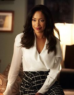 Everyone anticipating what Jessica Pearson will wear (portrayed by Gina Torres)