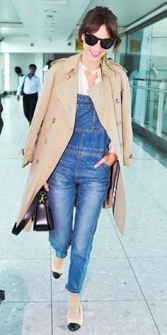 105 Celebrity-Inspired Outfits to Wear on a Plane - Alexa Chung from #InStyle