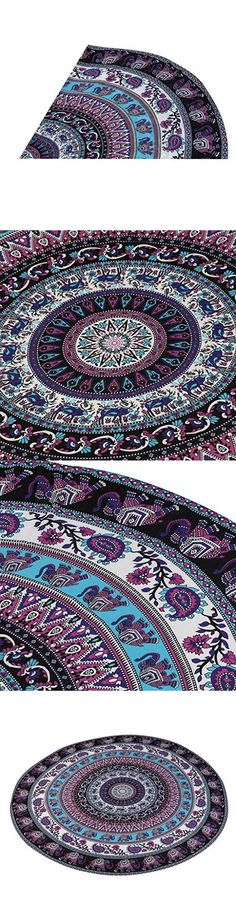 Table Cloth Buedvo Round Beach Pool Home Shower Towel Blanket Table Cloth Yoga Mat