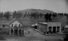 american old west | Flagstaff, Ariz. Terr. Street view of post office, other buildings ...
