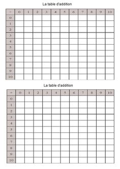 12 meilleures images du tableau tables d 39 addition mental - Table d addition a completer ...