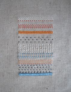 bordados: texturas. colorful sampler.