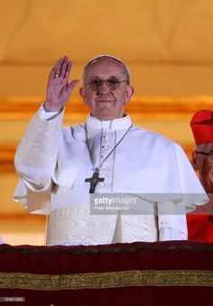 Newly elected Pope Francis I appears on the central balcony of St Peter's Basilica on March 13, 2013 in Vatican City, Vatican. Argentinian Cardinal Jorge Mario Bergoglio was elected as the 266th Pontiff and will lead the world's 1.2 billion Catholics.