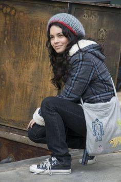 Vanessa Hudgens as Sa5m in Bandslam. Love her grudge/rocker/hipster/emo style!