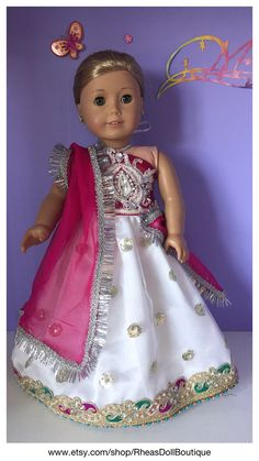 American Girl Doll Princess Outfit Lehnga von RheasDollBoutique