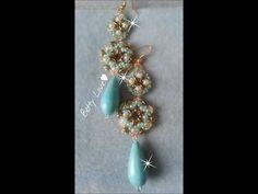 DIY Tutorial perline: orecchini e bracciale Snowflake con nuove perline!!! - YouTube
