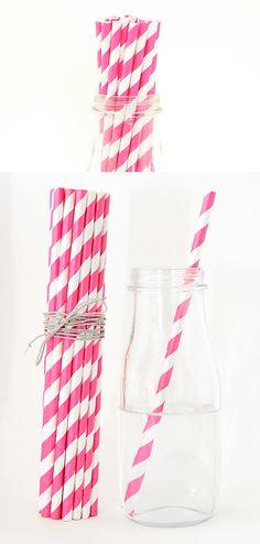 hot-pink-paper-straws-stripe