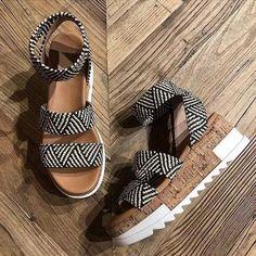 US$ 38.99 - Summer Wedges Heel Sandals Fashion Open Toe Platform Women Sandals Shoes Plus Size Pumps 2020 Femme Platform Sandals - www.joymanmall.com High Wedges, Shoes Heels Wedges, Wedge Heels, Pumps, Summer Wedges, Low Heels, Shoes Sandals, Striped Shoes, Beige Shoes