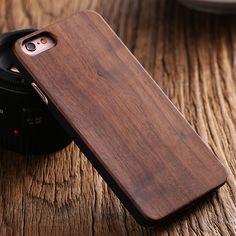 Floveme per iphone se 5 s legno naturale posteriore dura protettiva case per apple iphone 5 s se 5 shockproof copertura di bambù legno di noce