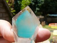 Ajoite in Quartz Crystal. Ajoite is known in the metaphysical world as a stone of peace and harmony. It is said to help release and overc. Minerals And Gemstones, Crystals Minerals, Rocks And Minerals, Stones And Crystals, Gem Stones, Cool Rocks, Mineral Stone, Rocks And Gems, Healing Stones