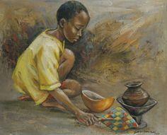 Ghanaian artist Enoch Yaw Mensah