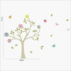 http://www.mimoinfantil.com.br/quarto-de-bebe-decorado-adesivos-primaveras/ Quarto de bebê decorado | Adesivos Árvore Primavera - MimoInfantil