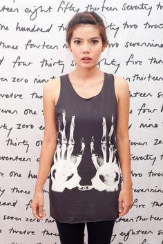 e40288d9c17eb2 X-RAY Handcuff Skull T Shirt Art Graphic Rock Women Black T-Shirt Vest Tank  Top Singlet Sleeveless Size S M.  15.99