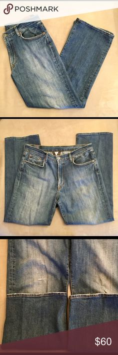 Lucky Brand men's jeans Lucky Brand men's jeans. Slightly distressed. Good condition. Size: W34 L29. Bootleg cut. Lucky Brand Jeans Bootcut