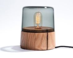 Interesting wooden lamp!
