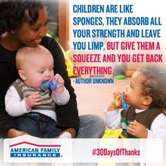 You put your children's lives in their hands.  Thank your daycare providers today for their wonderful care!    https://www.facebook.com/amfam?fref=ts
