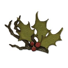 Sizzix - Tim Holtz - Alterations Collection - Bigz Die - Christmas - Holly Branch at Scrapbook.com