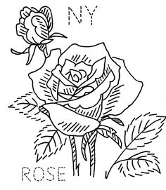 1000 images about embroidery state flowers birds on for New york state flower coloring page