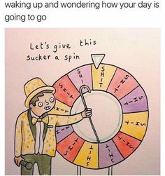 Wheel of fortune cartoon about horrible situations
