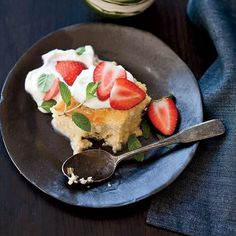 Tres Leches Cake with Strawberries by Food & Wine Magazine
