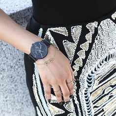 The Black Marble. A bit of sparkle and a bit of marble. Beautifully worn by @styleme.yesterday via @outwithaudrey