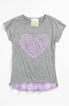 444d1ea4d0d Jenna  amp  Jessie  Crochet Heart  Tee (Little Girls) available at