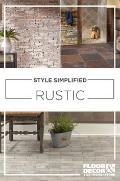 If you're ready to simplify your home decor & style with warm colors, rich textures, and reclaimed looks, then rustic style might be what your home has been waiting for. Home Decor Styles, Cheap Home Decor, Country Farmhouse Decor, Farmhouse Trim, Farmhouse Design, Farmhouse Table, Small Garden Design, Living Room Remodel, Living Rooms