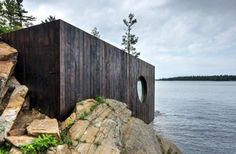 This week's architecture and design Dezeen Mail newsletter features a lakeside sauna in Toronto, cars for fish and a concept for underwater cities. Cabinet D Architecture, Architecture Design, Scandinavian Architecture, Innovative Architecture, Design Sauna, Lac Huron, Bio Sauna, Cedar Paneling, Traditional Saunas