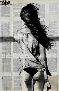 "Saatchi Art Artist LOUI JOVER; Drawing, ""ebb tide"" #art"