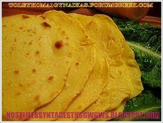 ΜΕΞΙΚΑΝΙΚΕΣ ΠΙΤΕΣ!!!(ΤORTILLAS) Φτιαξτε σπιτικες νοστιμες τορτιγιες, και γεμιστε τις με οτι τραβαει η ορεξη σας και η φαντασια σας. Δοκιμαστε τις!!!...by nostimessyntagesthsgwgws.blogspot.com Recipies, Bread, Ethnic Recipes, Food Heaven, Party Time, Recipes, Brot, Baking, Breads