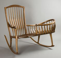 Sam Maloof rocking chair and cradle