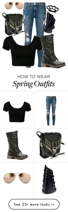 """""""Outfit #771"""" by the-walking-doctor on Polyvore featuring Versace, Frame Denim and Linda Farrow"""