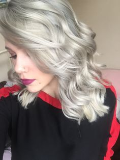 Silver hair using Wella Charm t14 toner.