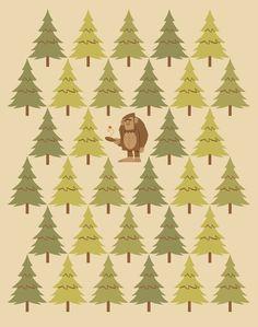 How Bigfoot Staves off Boredom  by Diarmuid Ó Catháin